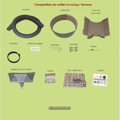 Pack collier Écopiège® Écorce + nichoir toit inox
