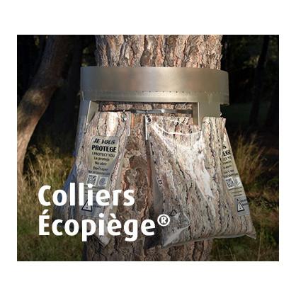 Colliers Écopiège®, Motif Écorce ou Transparent, La Mésange Verte